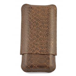 Cigar Must Accessories Cigar Case Bronze 3 cigars