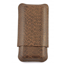 Cigar Must Accessories Cigar Case Bronze 3 cigars