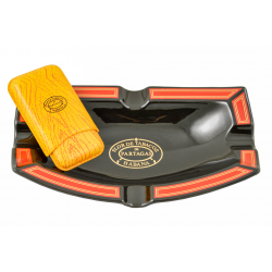 Partagas Ashtray with Cigar Case