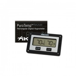 Xikar Rectangular Digital Hygrometer